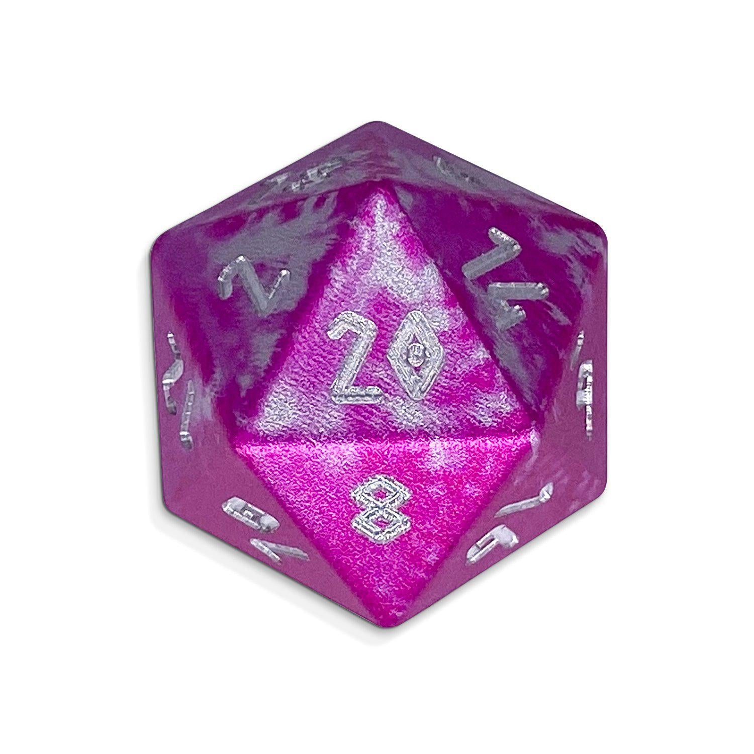Single Wondrous Dice® D20 in Sugar Bomb by Norse Foundry® 6063 Aircraft Grade Aluminum