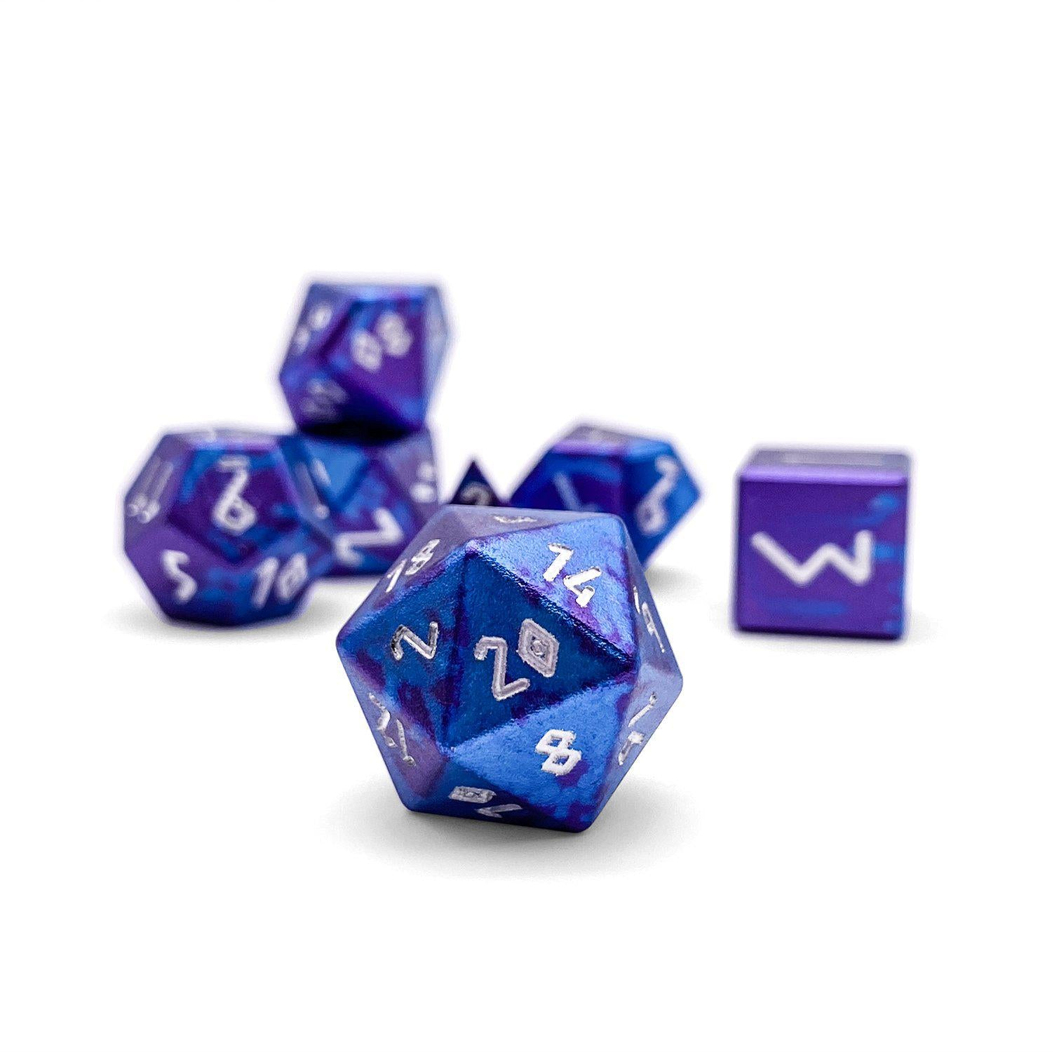 Time Warp - Wondrous Dice Set of 7 RPG Dice by Norse Foundry Precision Polyhedral Dice Set