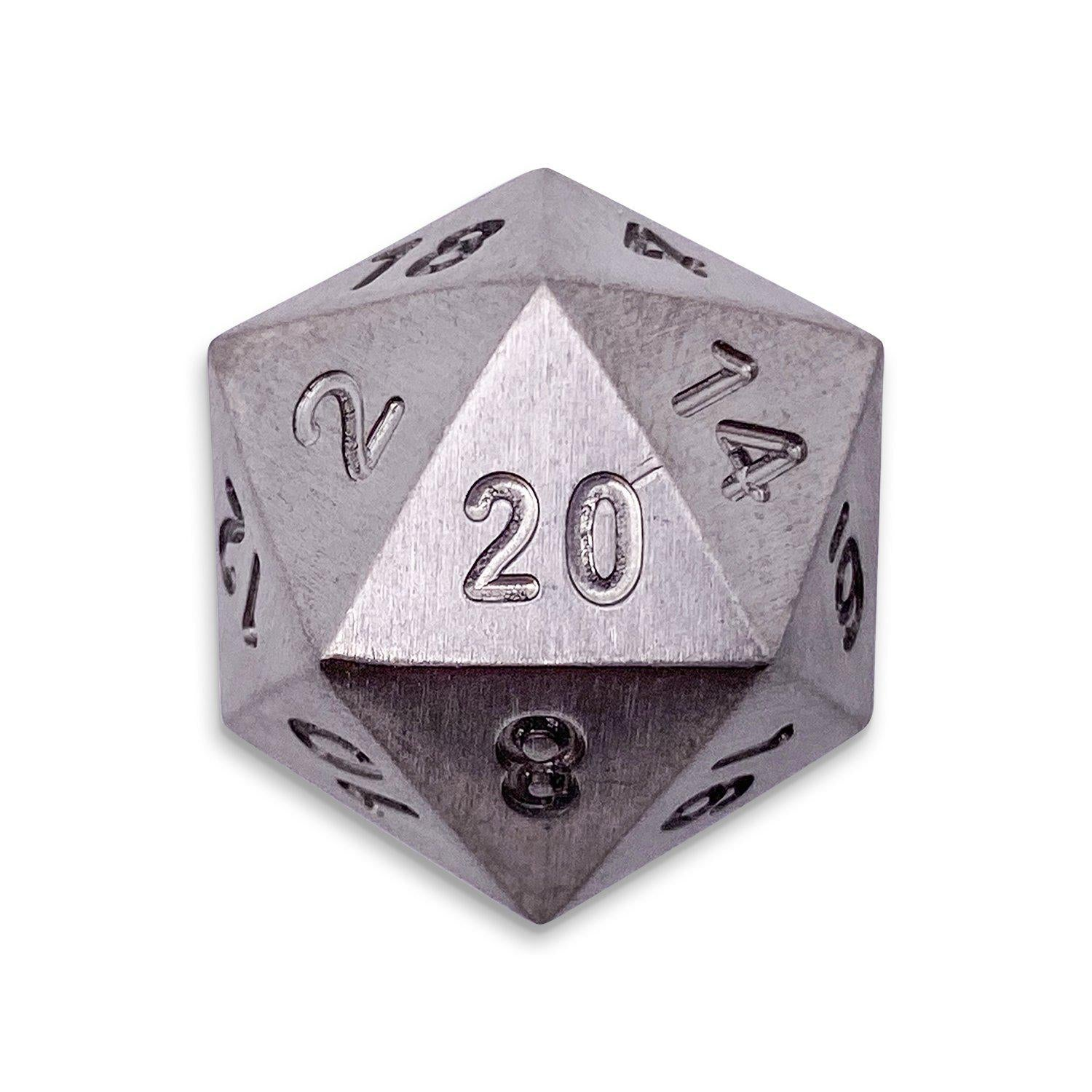 Single D20 in Titanium by Norse Foundry
