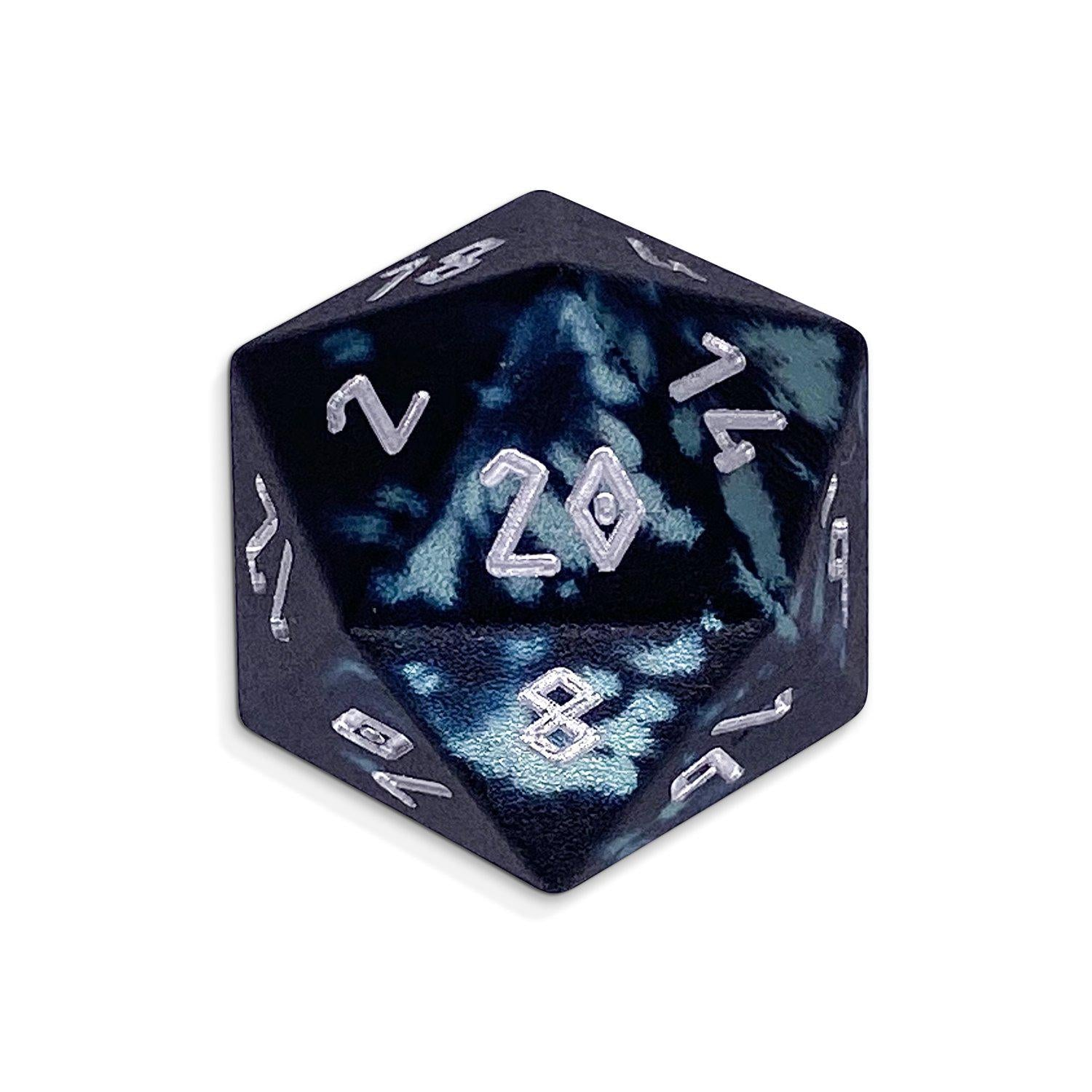 Single Wondrous Dice® D20 in Trolls Blood by Norse Foundry® 6063 Aircraft Grade Aluminum