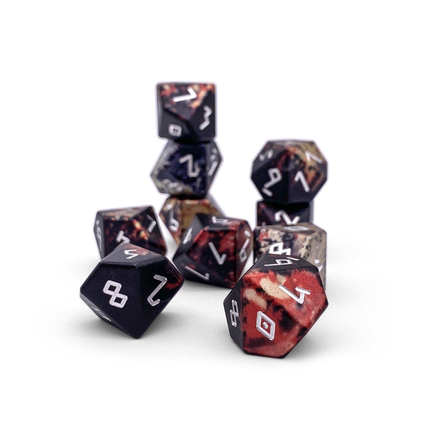 Vampire Blood - Set of 10 D10s - Wondrous Dice