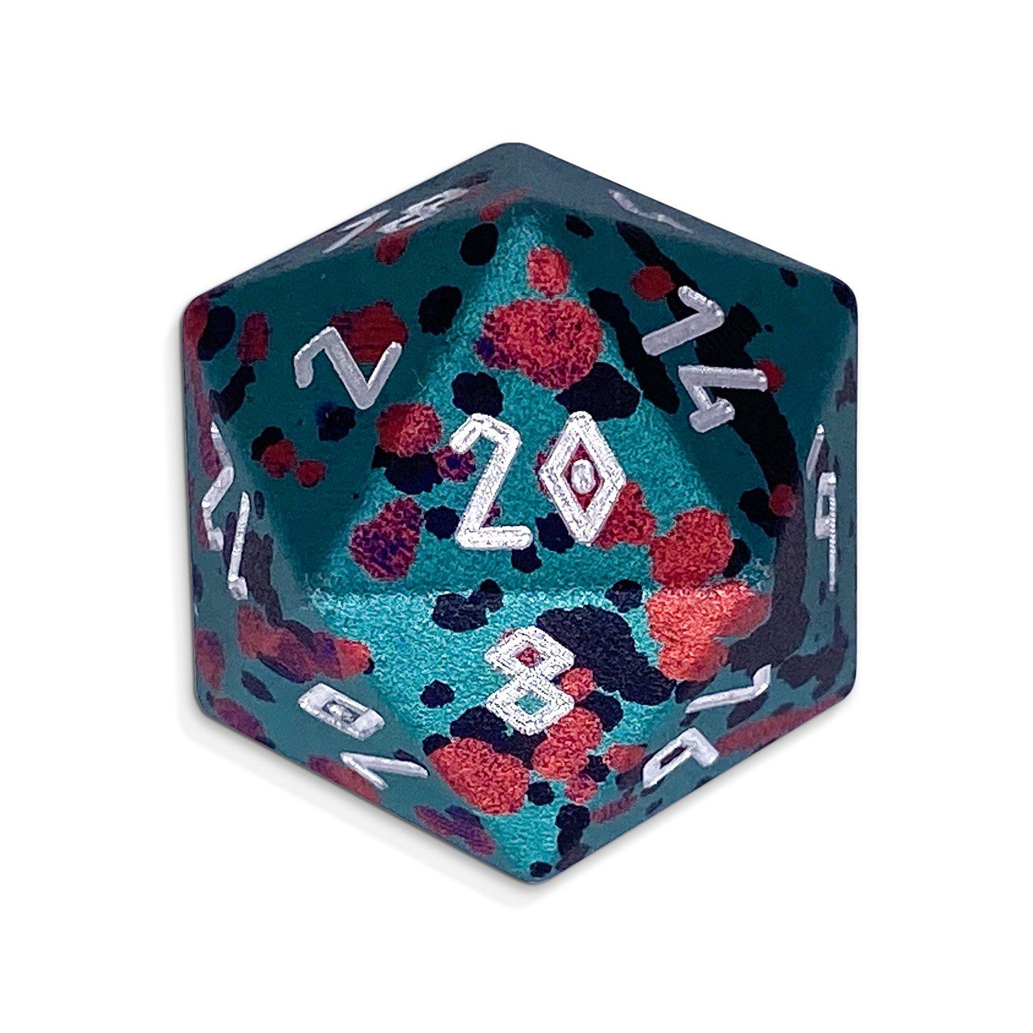 Wild Hunt - Single D20 Wondrous 20mm 6063 Aircraft Grade Aluminum Metal Die