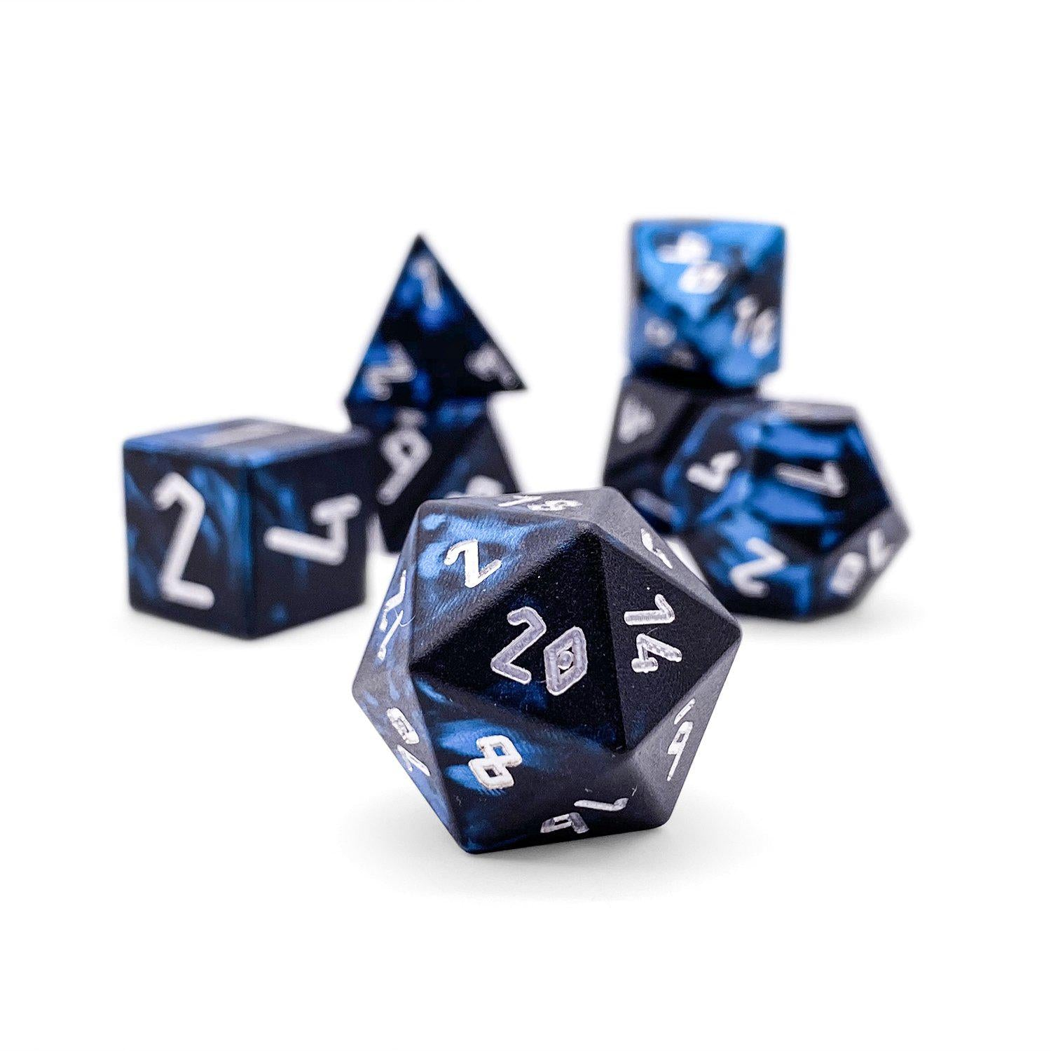 Willow O' The Wisp - Wondrous Dice - Norse Font - Set of 7 RPG Dice by Norse Foundry Precision Polyhedral Dice Set