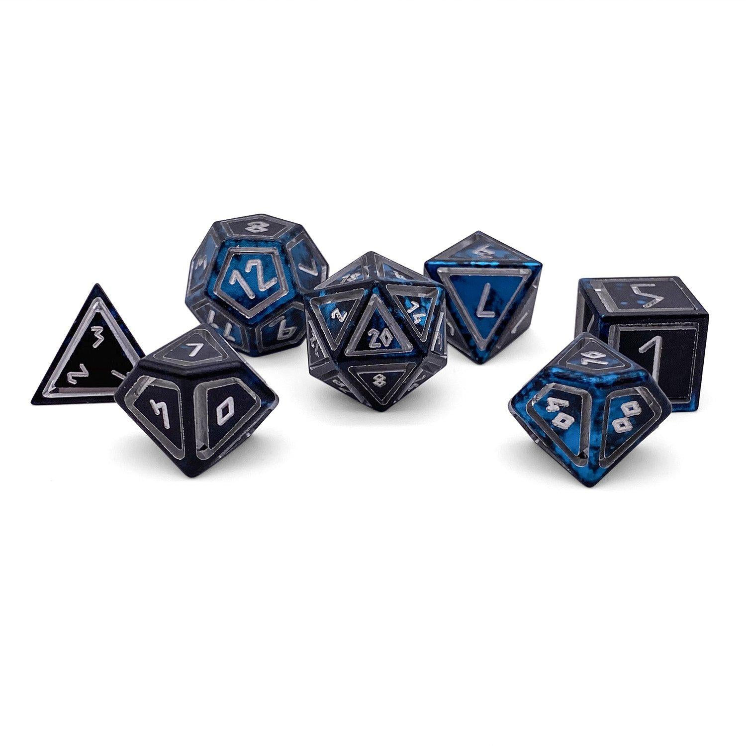 Nimbus Wondrous Precision CNC Aluminum Dice Set - Willow O' Wisp
