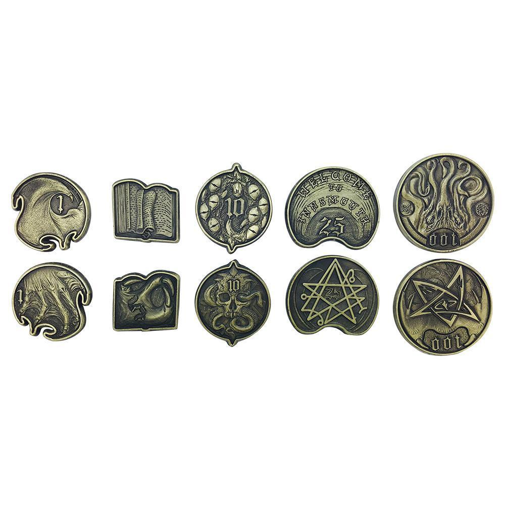 Adventure Coins – Cthulhu Metal Coins Set of 10-Coins-Norse Foundry-DND Dice-Polyhedral Dice-D20-Metal Dice-Precision Dice-Luxury Dice-Dungeons and Dragons-D&D-