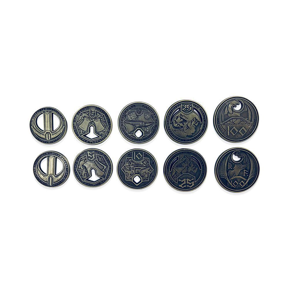 Adventure Coins – Dwarven Metal Coins Set of 10-Coins-Norse Foundry-DND Dice-Polyhedral Dice-D20-Metal Dice-Precision Dice-Luxury Dice-Dungeons and Dragons-D&D-