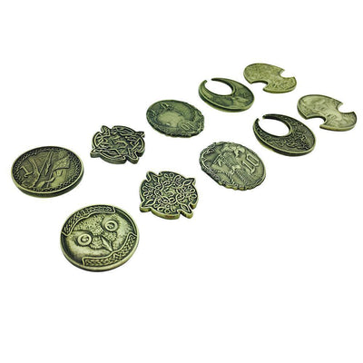 Adventure Coins – Elven Metal Coins Elf Set of 10-Coins-Norse Foundry-DND Dice-Polyhedral Dice-D20-Metal Dice-Precision Dice-Luxury Dice-Dungeons and Dragons-D&D-