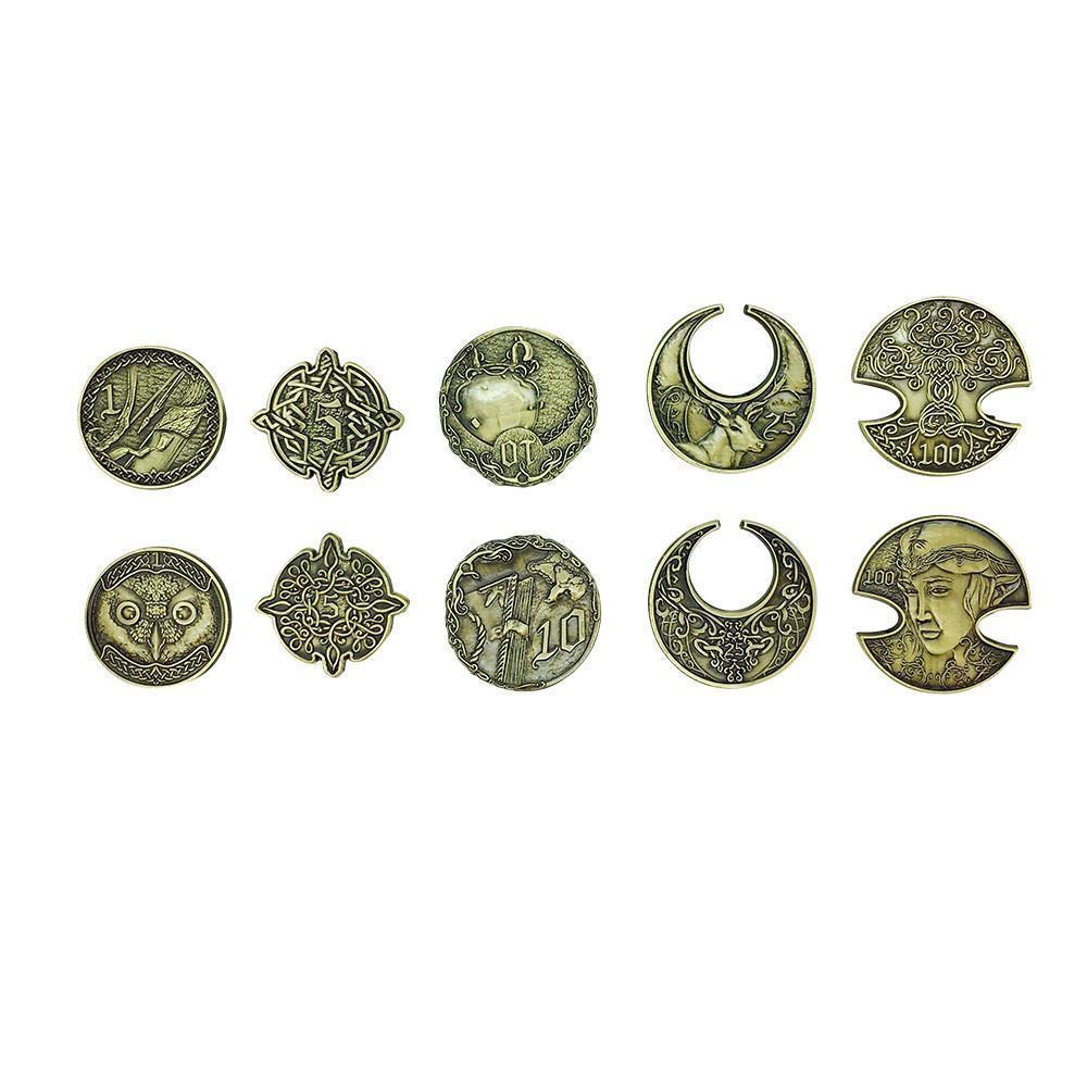 Adventure Coins – Elven Metal Coins Elf Set of 10
