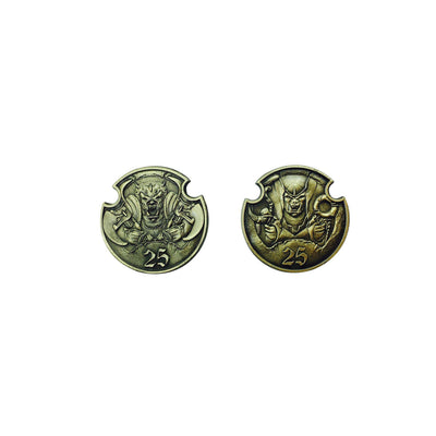 Adventure Coins – Orc and Goblins Metal Coins Set of 10-Coins-Norse Foundry-DND Dice-Polyhedral Dice-D20-Metal Dice-Precision Dice-Luxury Dice-Dungeons and Dragons-D&D-