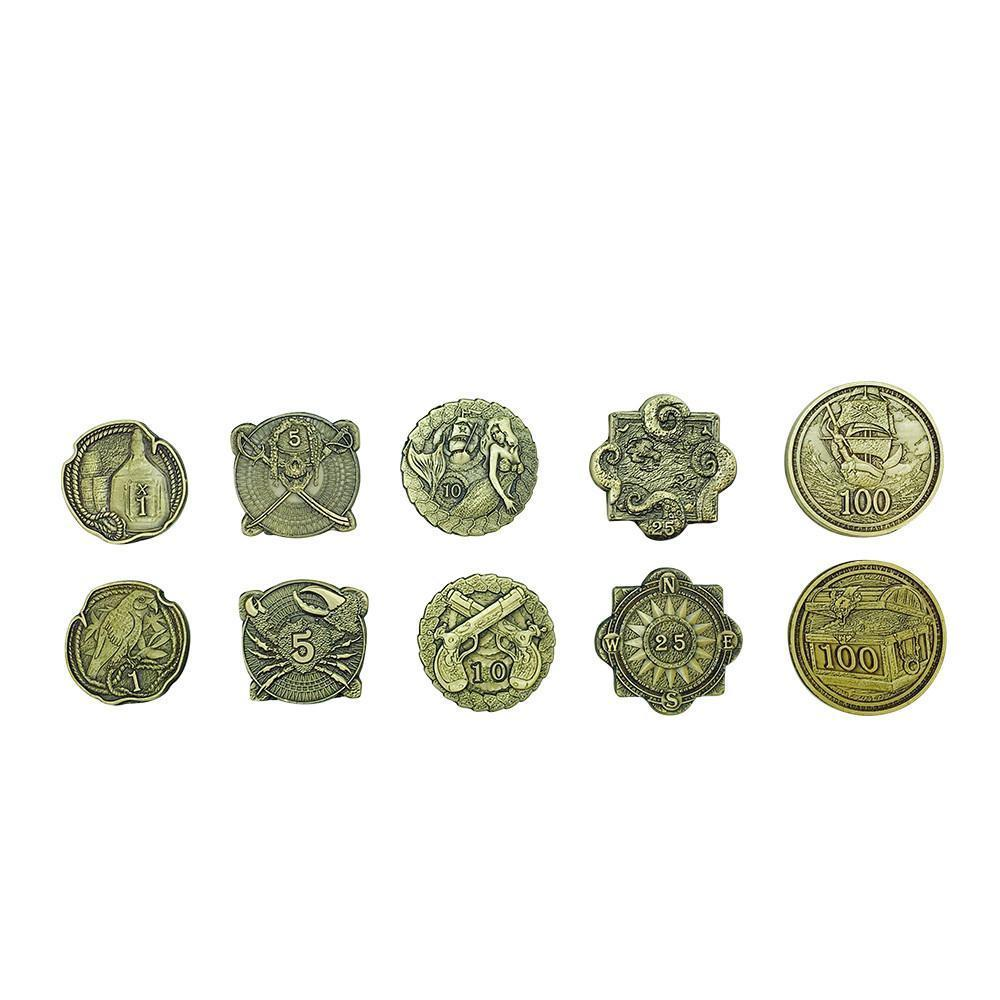 Adventure Coins – Pirates Metal Coins Set of 10-Coins-Norse Foundry-DND Dice-Polyhedral Dice-D20-Metal Dice-Precision Dice-Luxury Dice-Dungeons and Dragons-D&D-