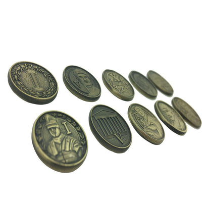Adventure Coins - Romans Metal Coins Variety Pack Set of 10-Coins-Norse Foundry-DND Dice-Polyhedral Dice-D20-Metal Dice-Precision Dice-Luxury Dice-Dungeons and Dragons-D&D-
