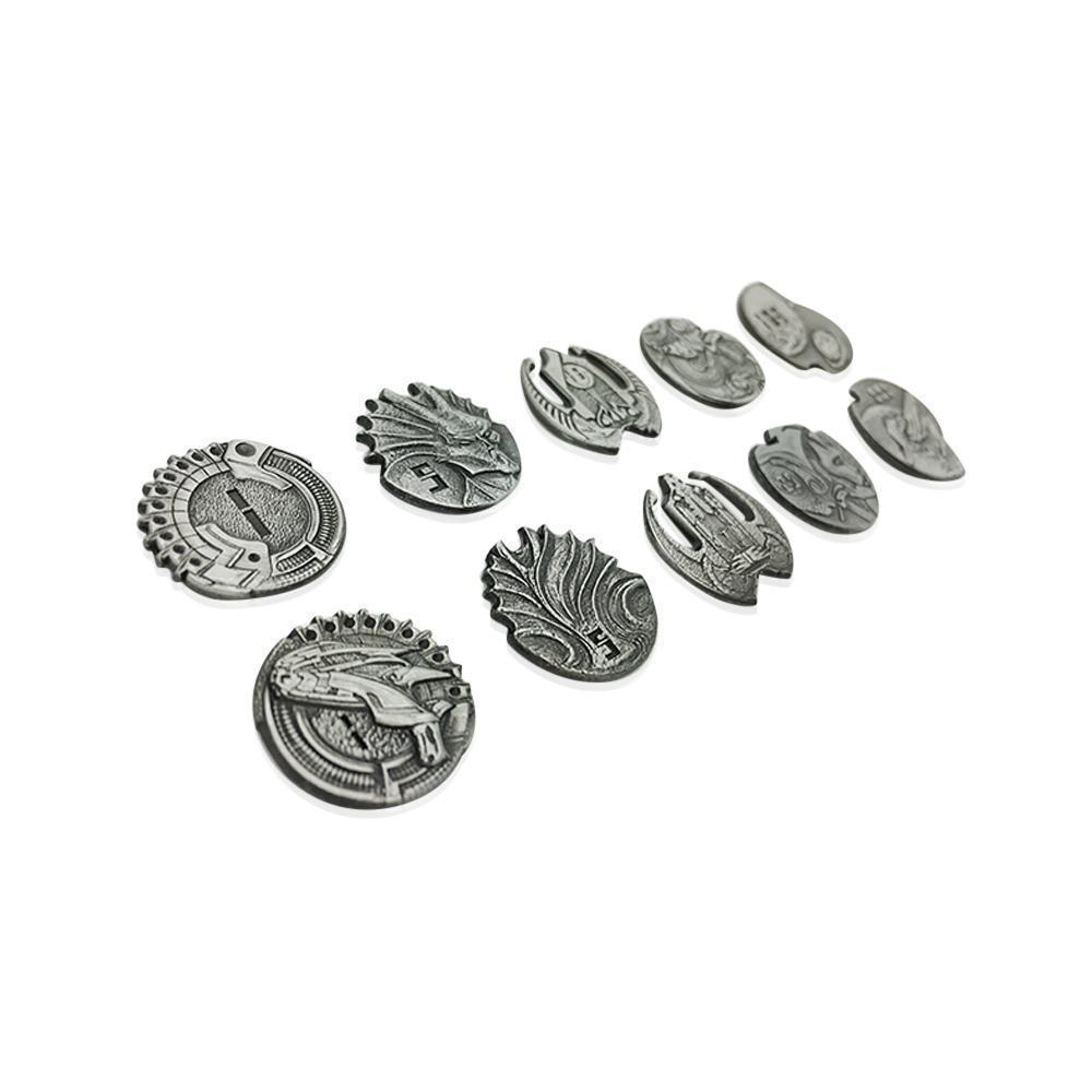 Adventure Coins – Sci-Fi Star Metal Coins Set of 10-Coins-Norse Foundry-DND Dice-Polyhedral Dice-D20-Metal Dice-Precision Dice-Luxury Dice-Dungeons and Dragons-D&D-
