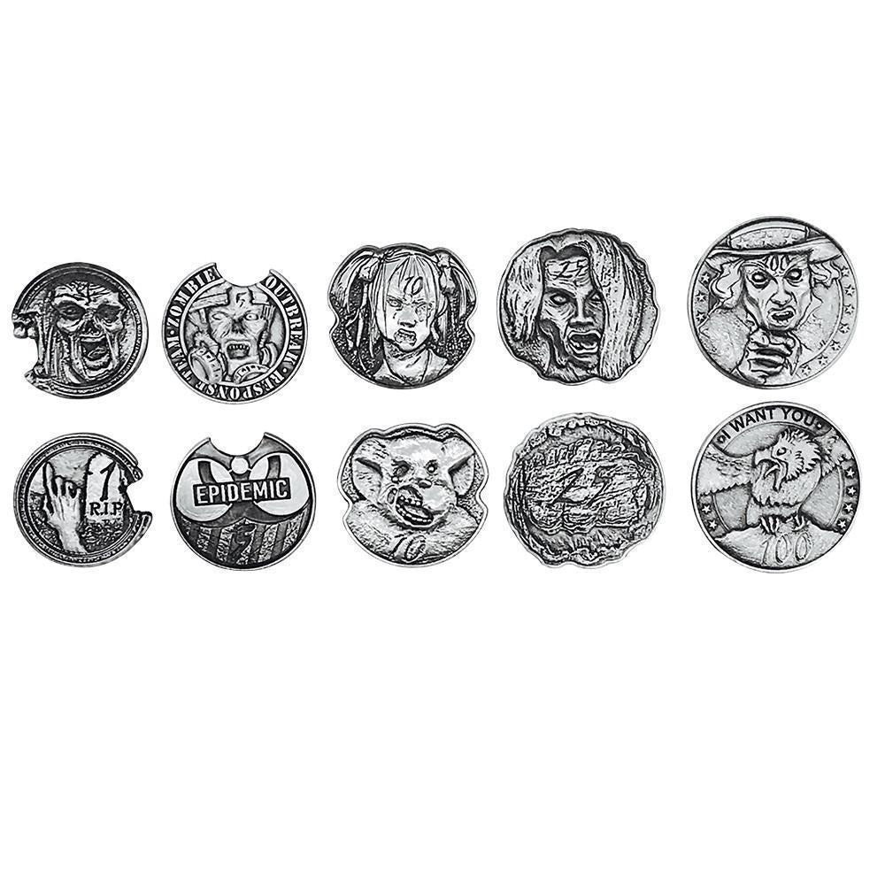 Adventure Coins – Zombie Metal Coins Set of 10-Coins-Norse Foundry-DND Dice-Polyhedral Dice-D20-Metal Dice-Precision Dice-Luxury Dice-Dungeons and Dragons-D&D-