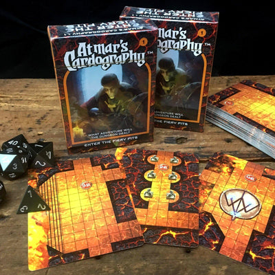 Atmar's Cardography - 5E and Fate Module in a Deck of Cards Random Dungeon Generator-Cards-Norse Foundry-DND Dice-Polyhedral Dice-D20-Metal Dice-Precision Dice-Luxury Dice-Dungeons and Dragons-D&D-