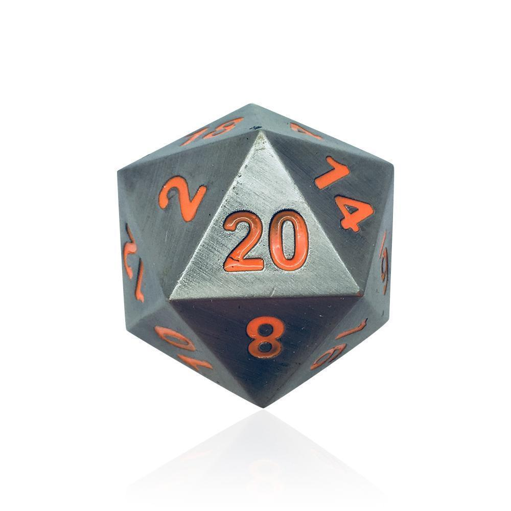 Con Special - Boulder® 45mm D20 Metal Dice-Dice-Norse Foundry-DND Dice-Polyhedral Dice-D20-Metal Dice-Precision Dice-Luxury Dice-Dungeons and Dragons-D&D-