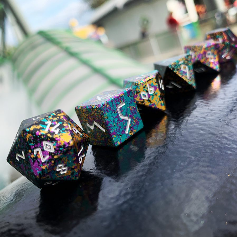 Court Jester - Wondrous Dice Set of 7 RPG Dice by Norse Foundry Precision Polyhedral Dice Set