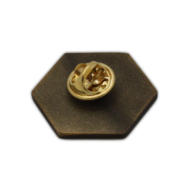 D20 Crit Metal Pin Norse Foundry Gold Plated 25MM-Pins-Norse Foundry-DND Dice-Polyhedral Dice-D20-Metal Dice-Precision Dice-Luxury Dice-Dungeons and Dragons-D&D-