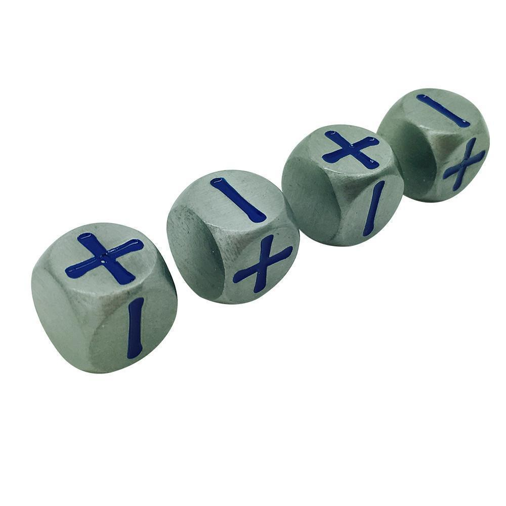 Fate Dice – Atomic Metal Pack of 4 Metal Dice-Dice-Norse Foundry-DND Dice-Polyhedral Dice-D20-Metal Dice-Precision Dice-Luxury Dice-Dungeons and Dragons-D&D-
