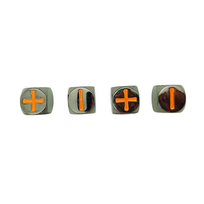 Fate Dice – Black Lava Pack of 4 Metal Dice-Dice-Norse Foundry-DND Dice-Polyhedral Dice-D20-Metal Dice-Precision Dice-Luxury Dice-Dungeons and Dragons-D&D-