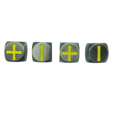 Fate Dice – Blacksmith Anvil Pack of 4 Metal Dice-Dice-Norse Foundry-DND Dice-Polyhedral Dice-D20-Metal Dice-Precision Dice-Luxury Dice-Dungeons and Dragons-D&D-