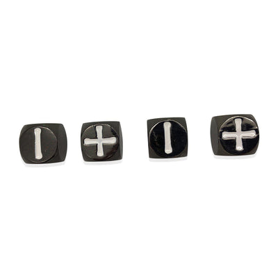 Fate Dice – Drow Black Pack of 4 Metal Dice-Dice-Norse Foundry-DND Dice-Polyhedral Dice-D20-Metal Dice-Precision Dice-Luxury Dice-Dungeons and Dragons-D&D-