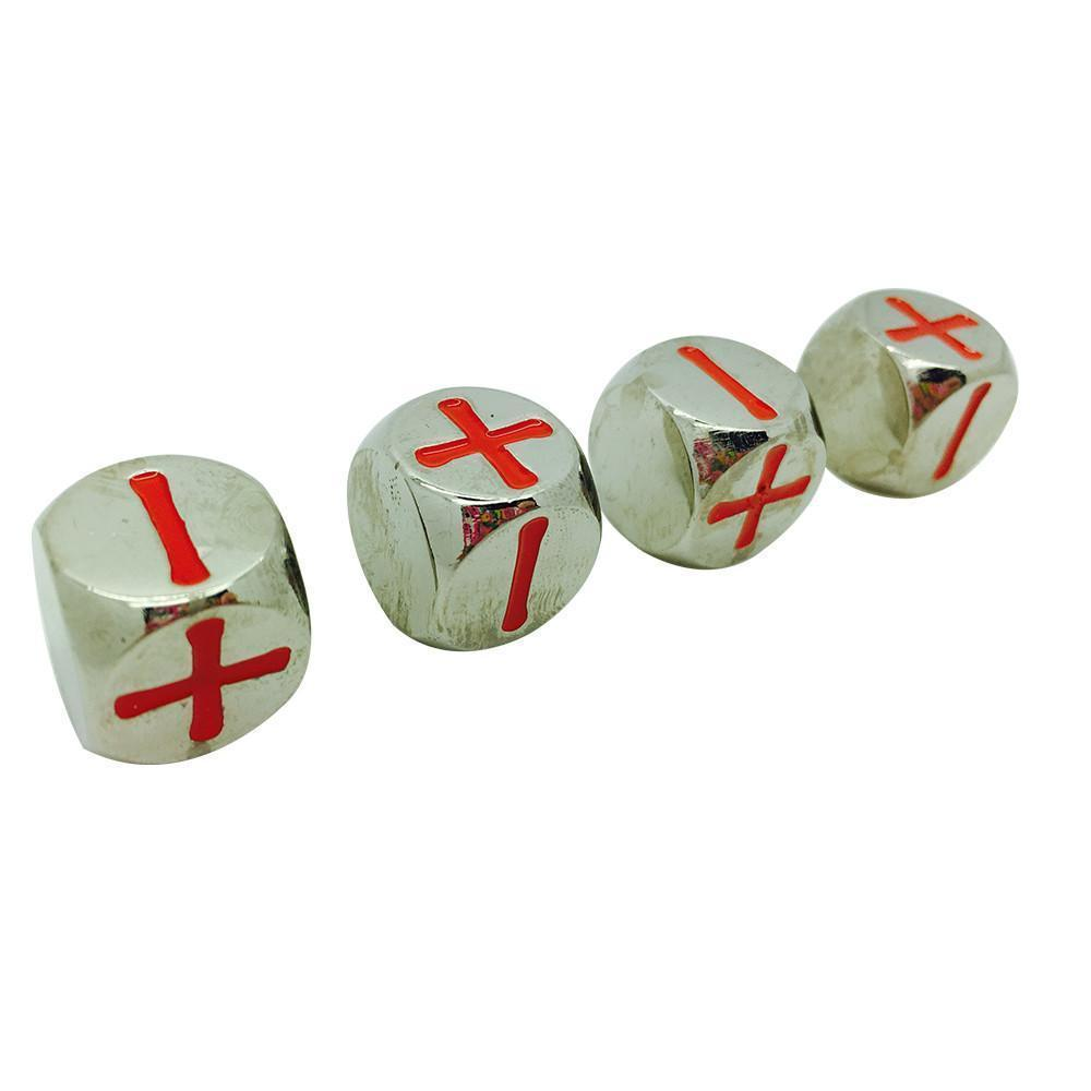 Fate Dice – Lycanthrope Silver Pack of 4 Metal Dice-Dice-Norse Foundry-DND Dice-Polyhedral Dice-D20-Metal Dice-Precision Dice-Luxury Dice-Dungeons and Dragons-D&D-