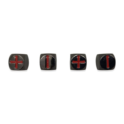 Fate Dice – Nightmare Black Pack of 4 Metal Dice-Dice-Norse Foundry-DND Dice-Polyhedral Dice-D20-Metal Dice-Precision Dice-Luxury Dice-Dungeons and Dragons-D&D-