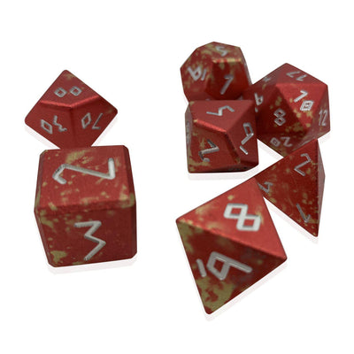 Firebolt - Wondrous Dice Set of 7 RPG Dice by Norse Foundry Precision Polyhedral Dice Set-Dice-Norse Foundry-DND Dice-Polyhedral Dice-D20-Metal Dice-Precision Dice-Luxury Dice-Dungeons and Dragons-D&D-