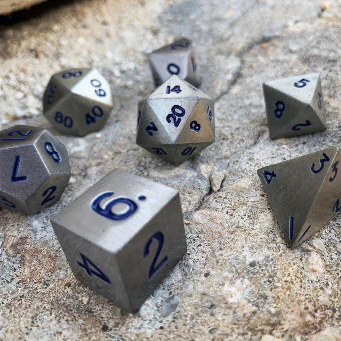 Atomic Metal Metal Dice Set