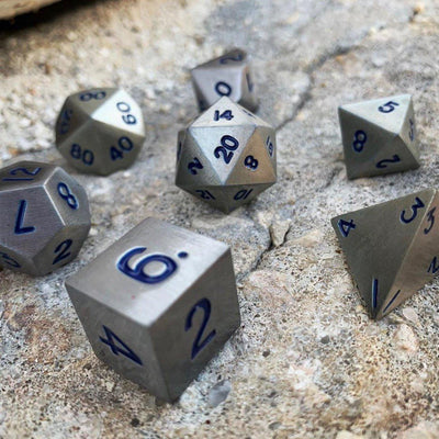 Atomic Metal 7 Piece Metal Dice Set