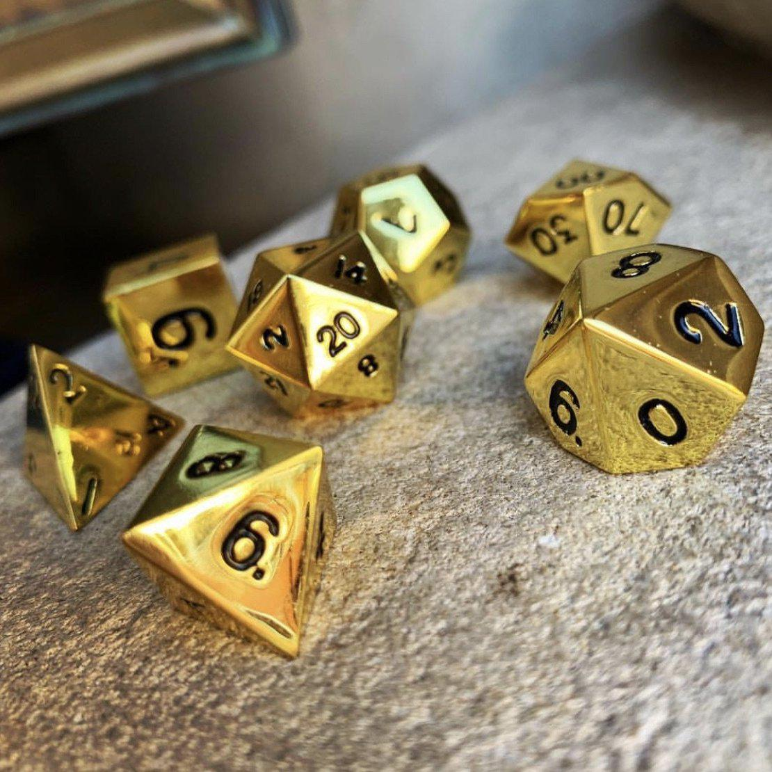 Dead Mans Gold Metal Dice Set Norse Foundry