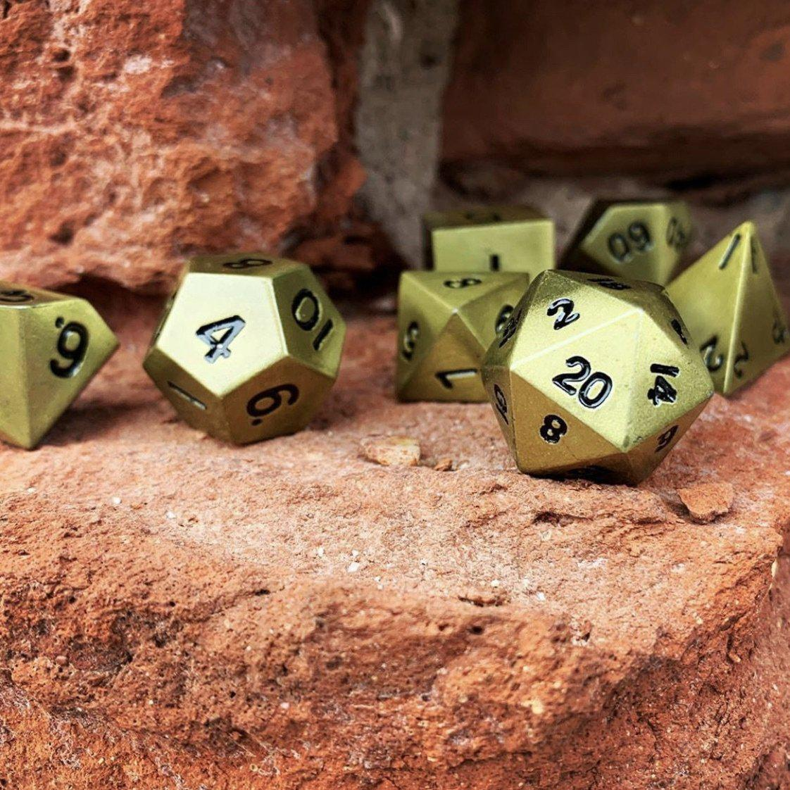 Bronze Dragon Scale Metal Dice Set