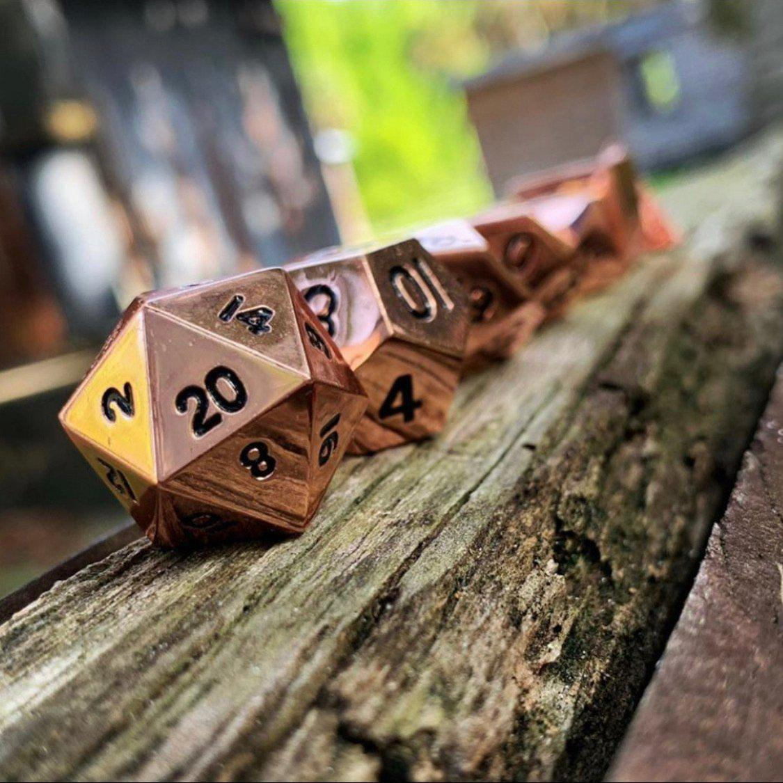 Copper Still Metal Dice Set