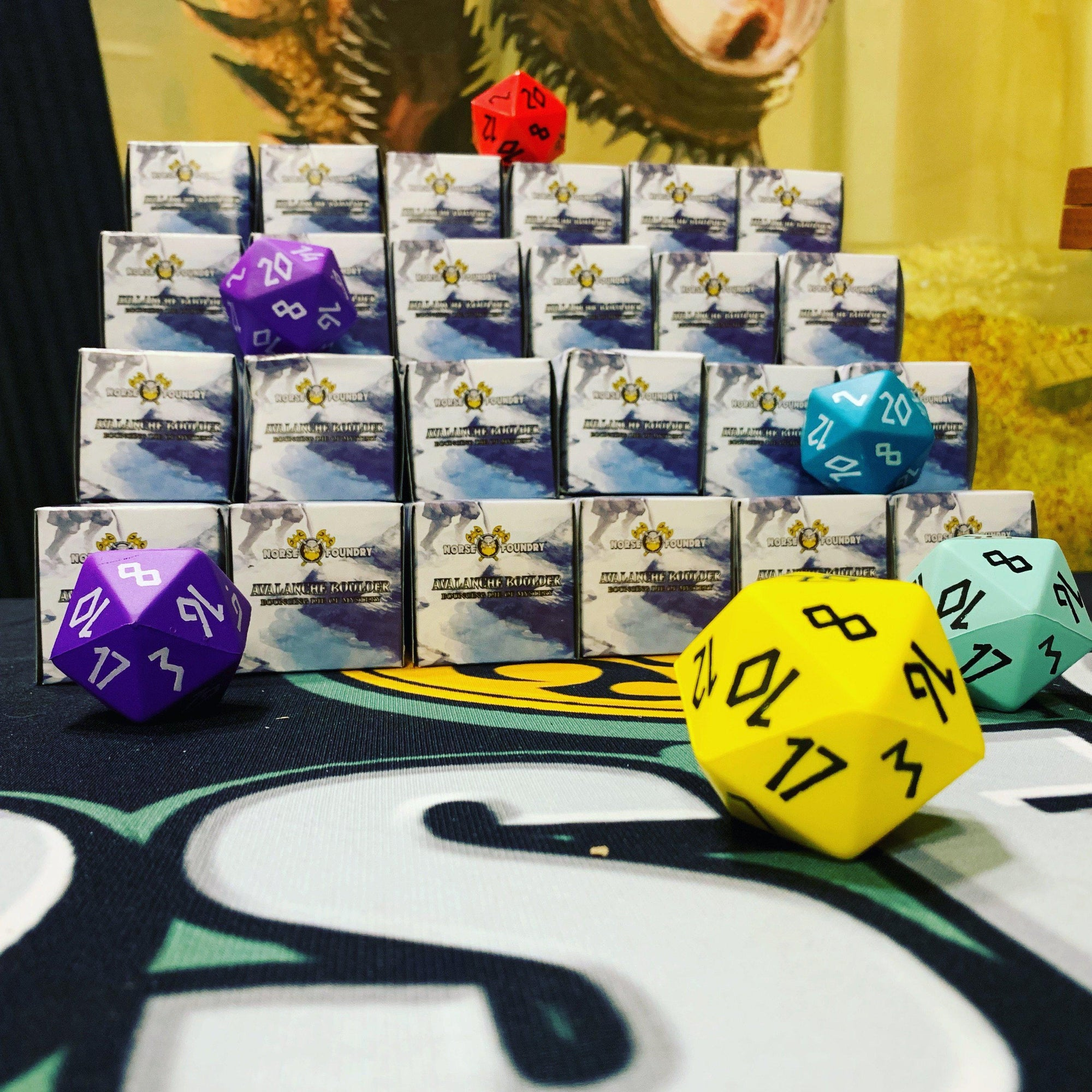 Avalanche Boulder ® - Mystery Box Boulders ® 45mm Foam Dice by Norse Foundry
