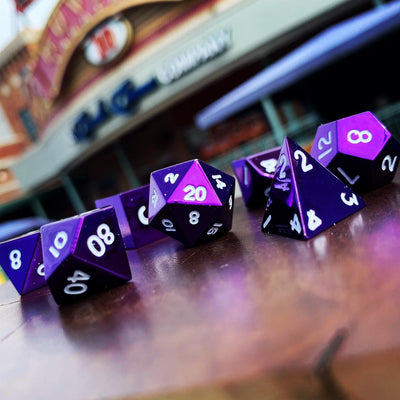 Bardic Purple - 7 Piece Metal Dice Set