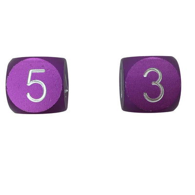 Lich Purple - Pair of Precision CNC Aluminum Dice D6's with Round Corners-Dice-Norse Foundry-DND Dice-Polyhedral Dice-D20-Metal Dice-Precision Dice-Luxury Dice-Dungeons and Dragons-D&D-