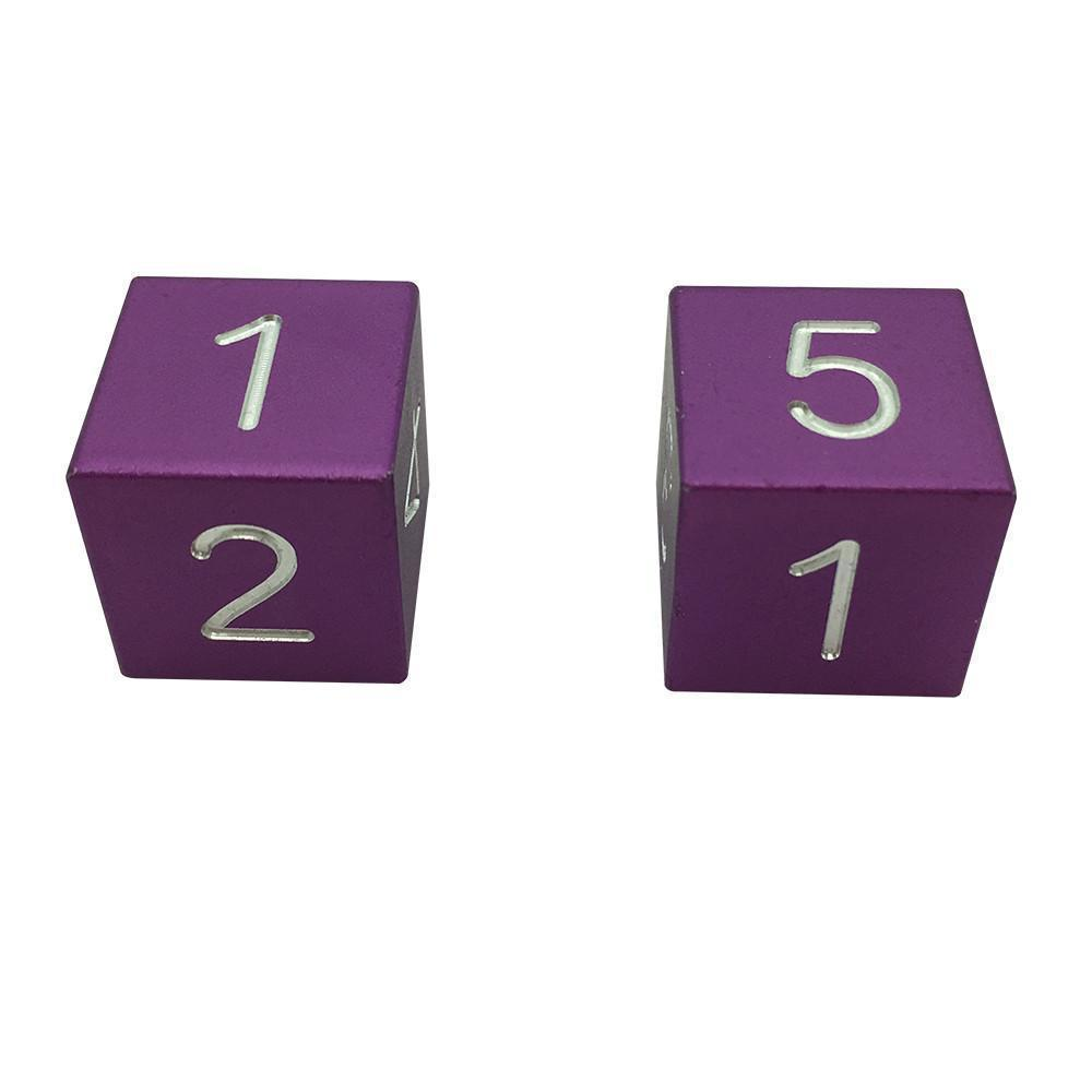 Lich Purple - Pair of Precision CNC Aluminum Dice D6's with Sharp Corners-Dice-Norse Foundry-DND Dice-Polyhedral Dice-D20-Metal Dice-Precision Dice-Luxury Dice-Dungeons and Dragons-D&D-
