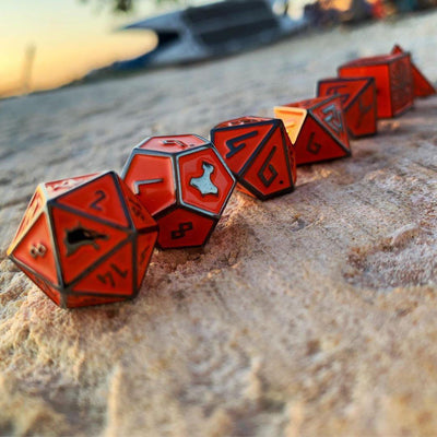 Molten Lava - Norse Themed Metal Dice Set