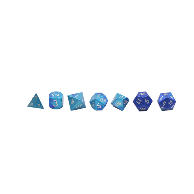 Mystic Wave - Wondrous Dice Set of 7 RPG Dice by Norse Foundry Precision Polyhedral Dice Set-Dice-Norse Foundry-DND Dice-Polyhedral Dice-D20-Metal Dice-Precision Dice-Luxury Dice-Dungeons and Dragons-D&D-