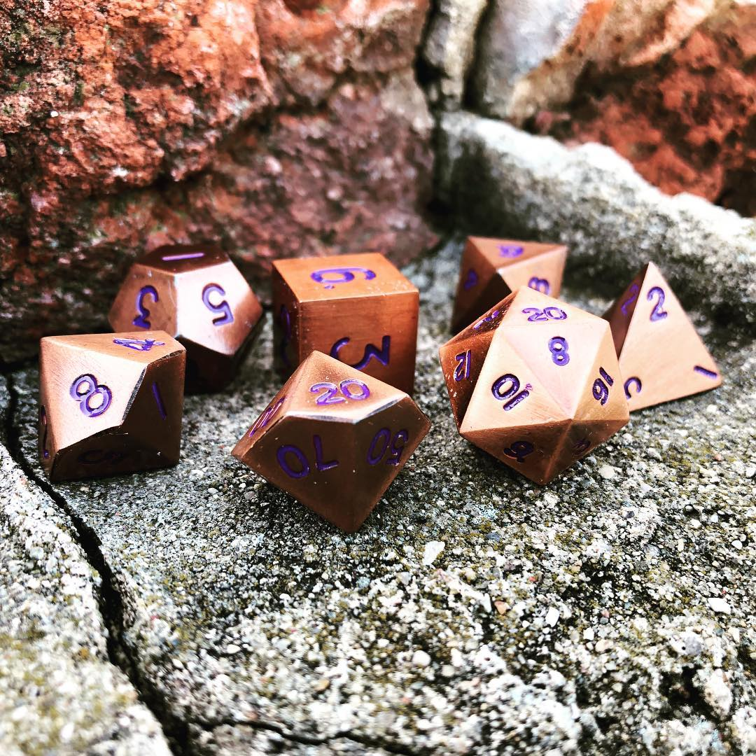 Mystic Copper Metal Dice Set
