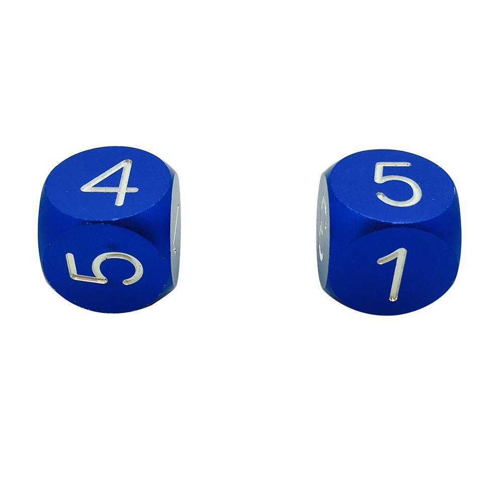Noble Blue Pair Of Precision Cnc Aluminum Dice D6 S With