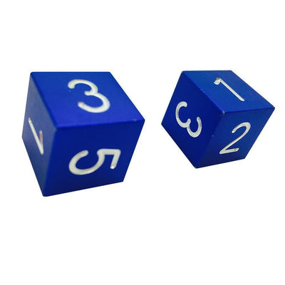 Noble Blue - Pair of Precision CNC Aluminum Dice D6's with Sharp Corners-Dice-Norse Foundry-DND Dice-Polyhedral Dice-D20-Metal Dice-Precision Dice-Luxury Dice-Dungeons and Dragons-D&D-