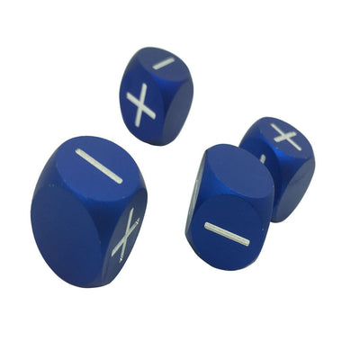 Noble Blue - Set of 4 Precision CNC Aluminum Fate / Fudge Dice-Dice-Norse Foundry-DND Dice-Polyhedral Dice-D20-Metal Dice-Precision Dice-Luxury Dice-Dungeons and Dragons-D&D-