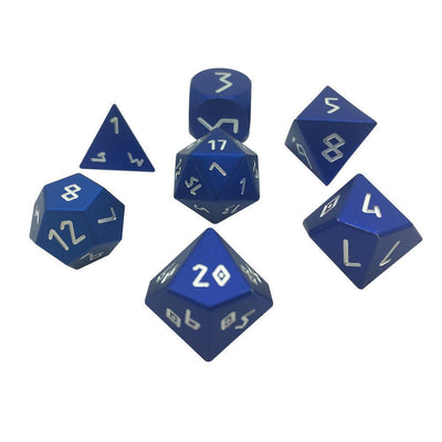 Precision CNC Aluminum Dice Set Norse Fount - Noble Blue-Aluminum Dice-Norse Foundry-DND Dice-Polyhedral Dice-D20-Metal Dice-Precision Dice-Luxury Dice-Dungeons and Dragons-D&D-