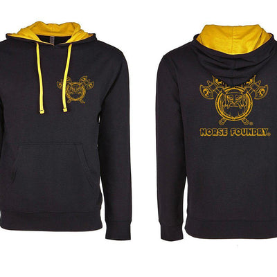 Black and Yellow Imprint Next Level Norse Foundry Pullover Hoodie Mid-weight