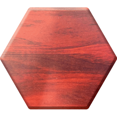 Red Heart Elderwood Hex Chest-Hex Chests-Norse Foundry-DND Dice-Polyhedral Dice-D20-Metal Dice-Precision Dice-Luxury Dice-Dungeons and Dragons-D&D-