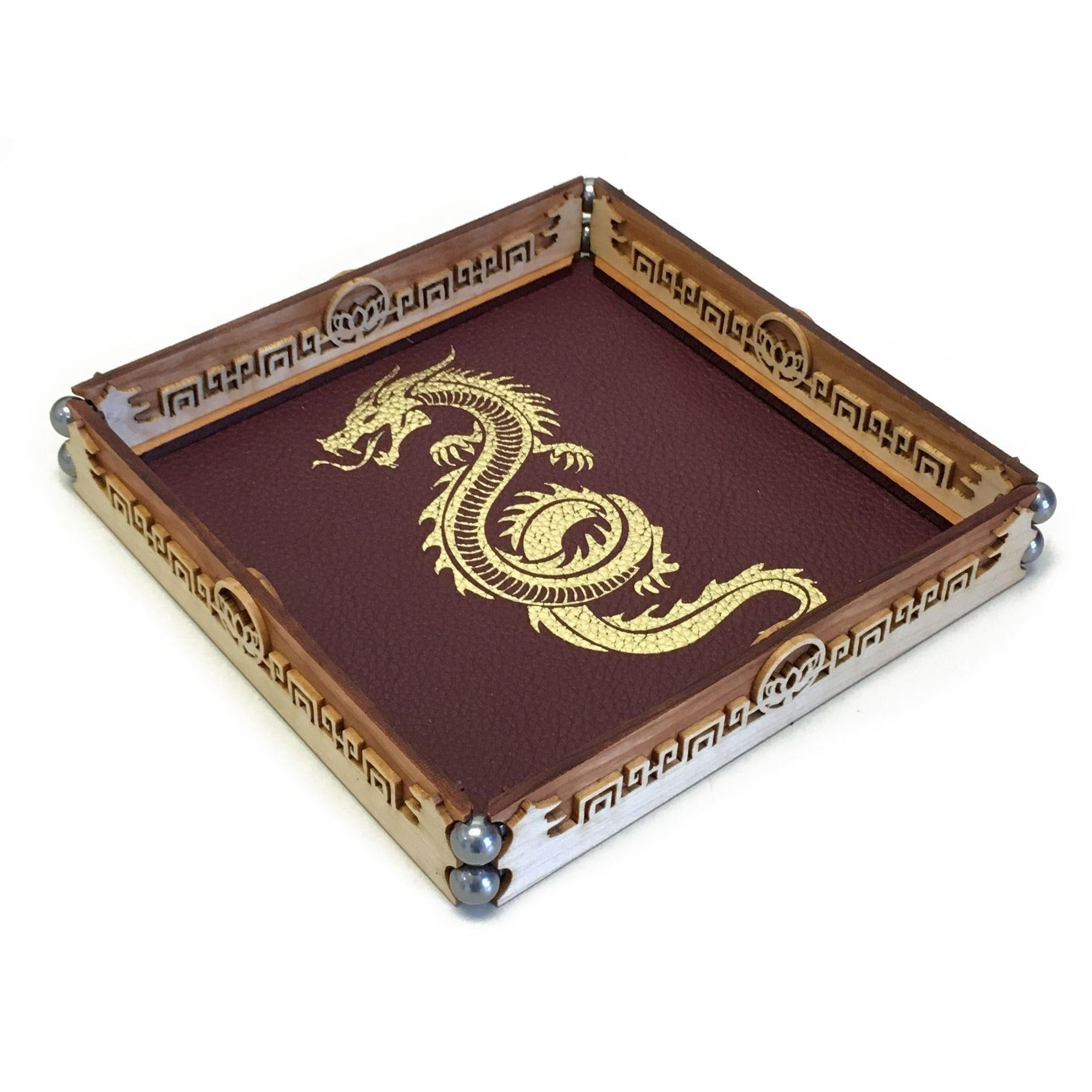 Scroll Rolling Tray by Elderwood Academy-Norse Foundry-DND Dice-Polyhedral Dice-D20-Metal Dice-Precision Dice-Luxury Dice-Dungeons and Dragons-D&D-