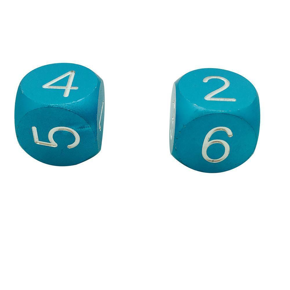 Sea Teal - Pair of Precision CNC Aluminum Dice D6's with Round Corners-Dice-Norse Foundry-DND Dice-Polyhedral Dice-D20-Metal Dice-Precision Dice-Luxury Dice-Dungeons and Dragons-D&D-