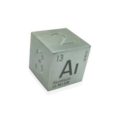 Single Alloy D6 in Aluminum by Norse Foundry-Dice-Norse Foundry-DND Dice-Polyhedral Dice-D20-Metal Dice-Precision Dice-Luxury Dice-Dungeons and Dragons-D&D-