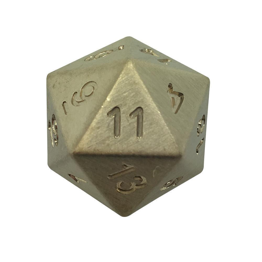 Single D20 in Bronze by Norse Foundry-Dice-Norse Foundry-DND Dice-Polyhedral Dice-D20-Metal Dice-Precision Dice-Luxury Dice-Dungeons and Dragons-D&D-